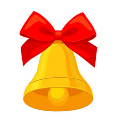 colorful cartoon christmas bell vector image