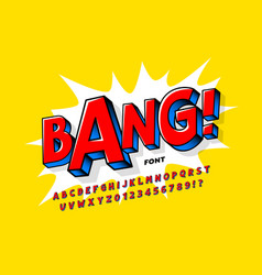 Comic book style font vector