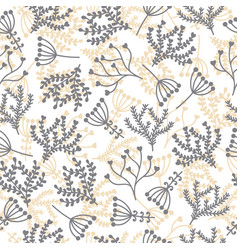 Cute seamless pattern floral stylish background vector