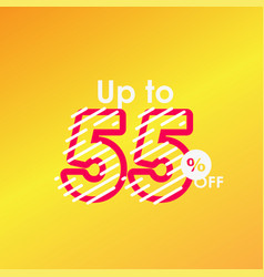 Discount up to 55 off label sale line logo vector