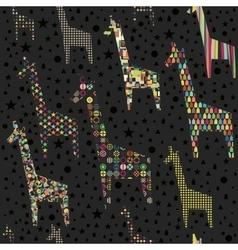 Funny giraffes seamless pattern vector