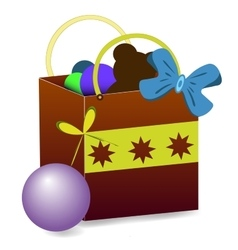 Gift bag with toys vector