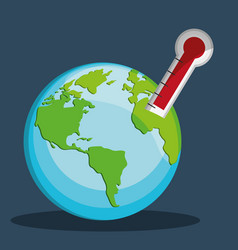 Global warming related icons image vector