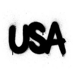 Graffiti usa abbreviation sprayed in black over vector