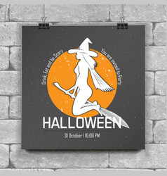 happy halloween invitation to a party vector image