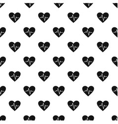 Healthy heart pattern seamless vector