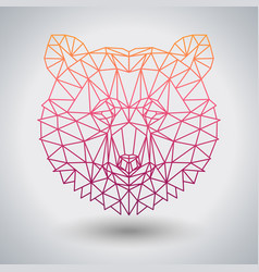 hipster polygonal animal bear triangle animal vector image
