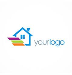home realty logo vector image