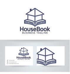 House book logo design vector