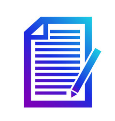 Icon note contenticon of the note a copyright vector