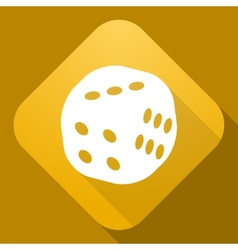 icon of Dice with a long shadow vector image
