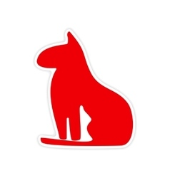 icon sticker realistic design on paper Egypt cat vector image