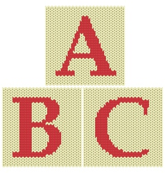 Knitted letters vector image