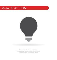 light bulb icon flat design vector image