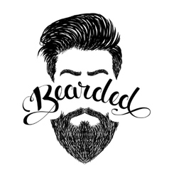 Logo bearded black vector