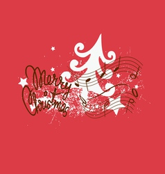 Merry christmas song design vector