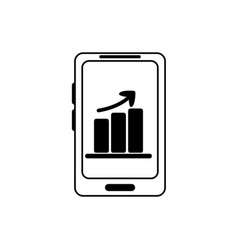 money business financial smartphone chart profit vector image