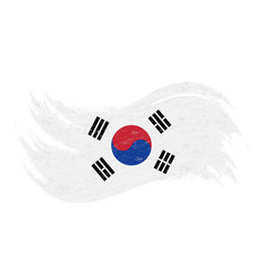 National flag of south corea designed using brush vector