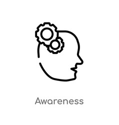 Outline awareness icon isolated black simple line vector