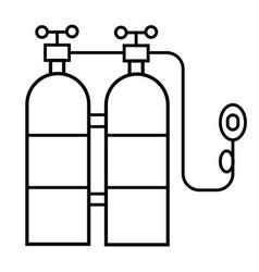 oxygen tank icon vector image