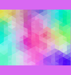 Pastel colored triangular mosaic background vector