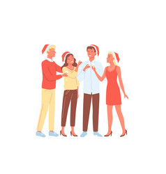 people friends party celebration young happy man vector image