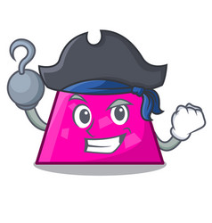 Pirate trapezoid character cartoon style vector