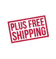 Plus Free Shipping rubber stamp vector image