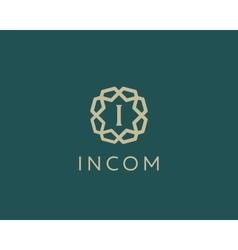 Premium letter I logo icon design Luxury vector