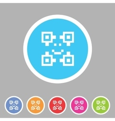 Qr code icon flat web sign symbol logo label vector image