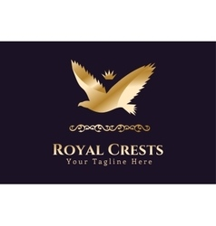 Royal logo Eagle Kings symbol vector
