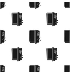 Safe icon in black style isolated on white vector