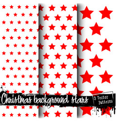 set of christmas stars backgrounds vector image