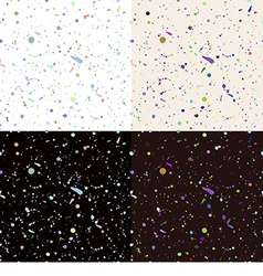 Set of seamless paint splatter pattern vector image