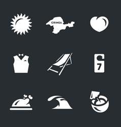 set resort icons vector image
