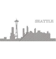 skyline of seattle vector image