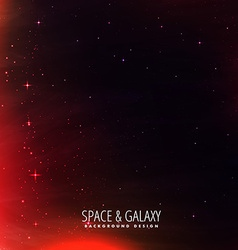 Space background with red lights vector
