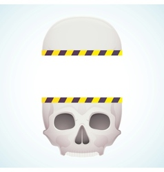 split skull vector image