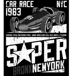 Sports car te graphic design vector