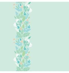 Spring berries vertical seamless pattern vector image