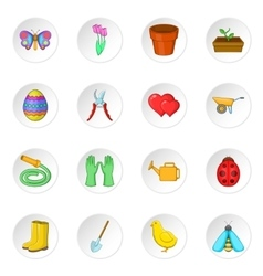 Spring icons set vector