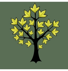 Spring trees with green leaves vector
