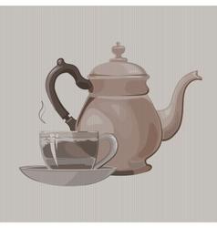 Tea service vector