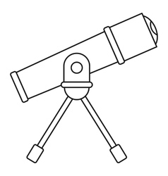 Telescope icon outline style vector