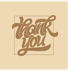 thank you typography calligraphy logo with thin vector image
