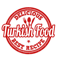 turkish food stamp vector image