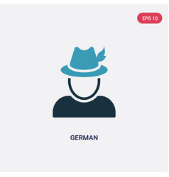 Two color german icon from miscellaneous concept vector