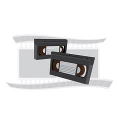 VCR tapes vector image