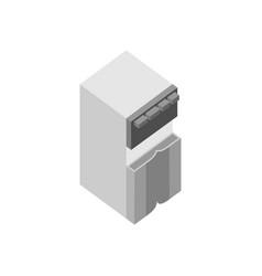 water dispenser 3d isometric furniture vector image