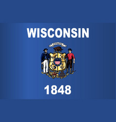 Wisconsin state flag vector
